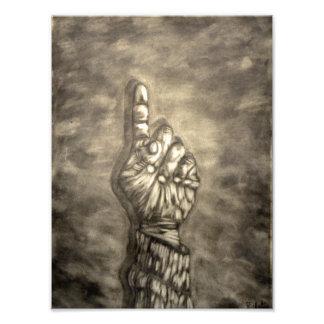 Hand figure photographic print