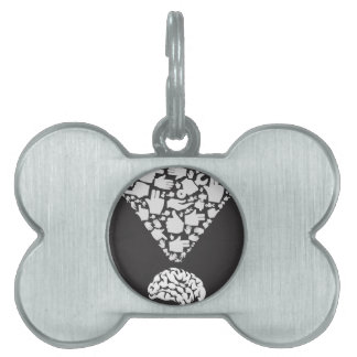 Hand from brain pet ID tag