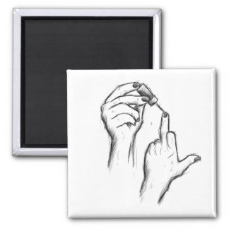 Hand Gesture Square Magnet