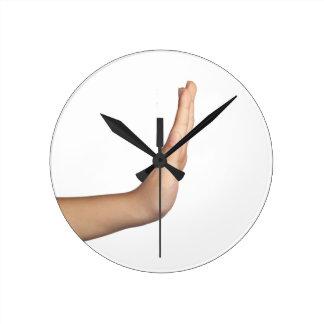 Hand gesture - Stop Round Clock