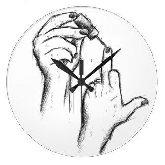 Hand Gesture Wall Clock