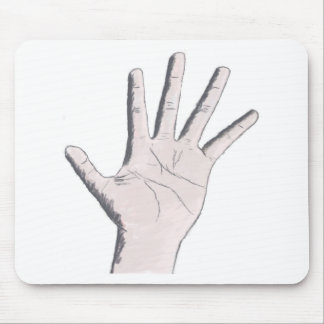 Hand Graphic Mouse Pad