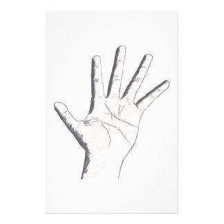 Hand Graphic Custom Stationery