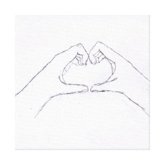Hand Hearts Wall Art Gallery Wrapped Canvas