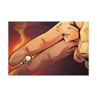 Hand Hold a Cigarette Canvas Print