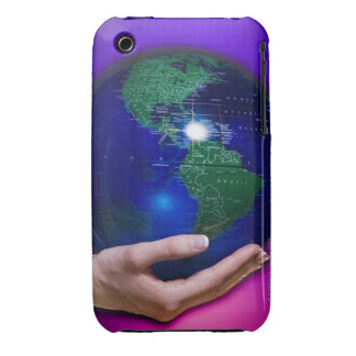Hand holding earth iPhone 3 cover
