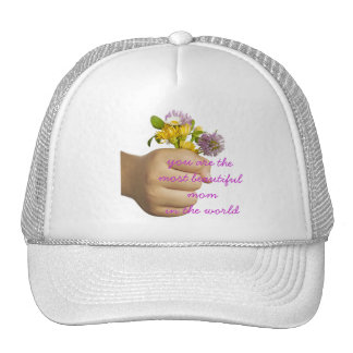 Hand Holding Flowers Cap