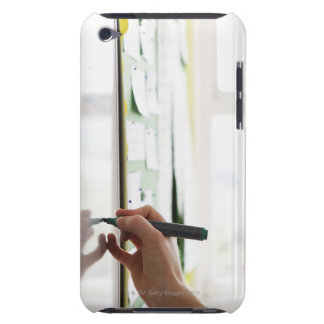 hand holding marker pen on school whiteboard iPod touch case