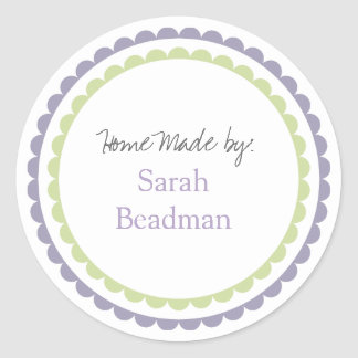 Hand Home Custom Made Name Label Sticker