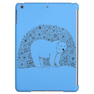 Hand Illustrated Artsy Floral Polar Bear Pen Art