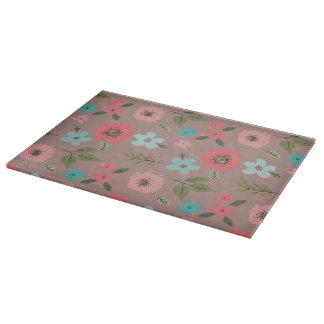 Hand Illustrated Floral Print Cutting Board