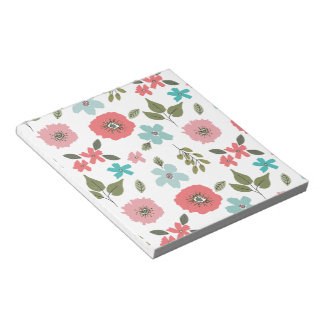 Hand Illustrated Floral Print Notepad