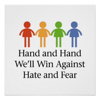 Hand in Hand Against Hate and Fear Poster