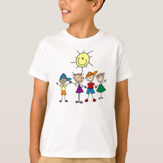 Hand in Hand Stick  Figures T-shirt