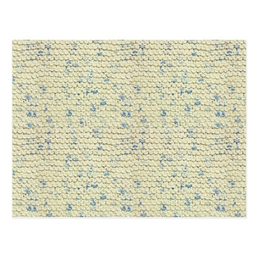 Hand Knit Garter Stitch with Cream and Blue Yarn Post Cards