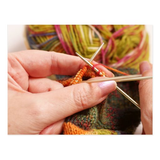 Hand Knitting Post Cards