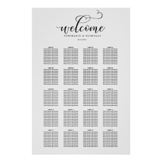 Hand Letter Chic Wedding Seating Chart