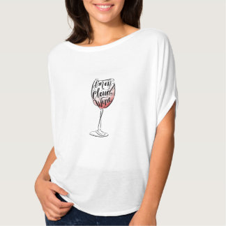 Hand Lettered and Illustrated I'm on Cloud Wine T-Shirt
