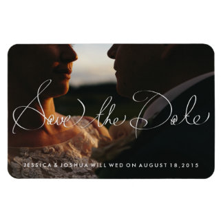 Hand Lettered Fridge Magnet Photo Save the Date