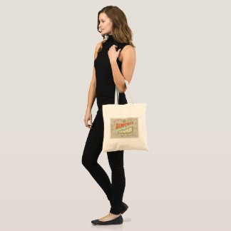 """Hand lettered   """"happiness is handmade """" tote bag"""