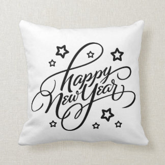 HAND-LETTERED HAPPY NEW YEAR | PILLOW