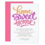 HAND LETTERED HOME SWEET HOME   HOUSEWARMING PARTY 9 CM X 13 CM INVITATION CARD