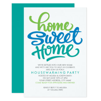 HAND LETTERED HOME SWEET HOME | HOUSEWARMING PARTY CARD