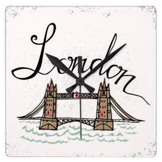 Hand Lettered London Bridge Clock