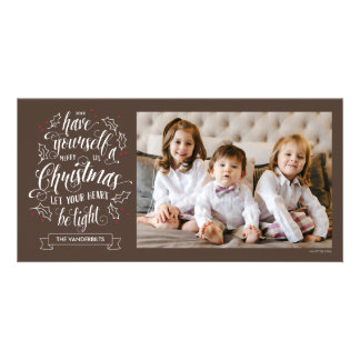 Hand Lettered Merry Li'l Christmas One Sided Photo Card Template