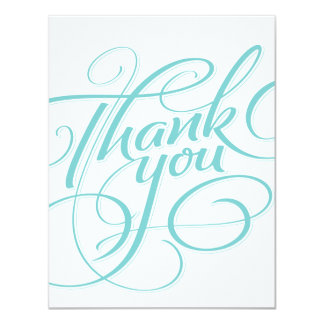 HAND LETTERED THANK YOU CARD 11 CM X 14 CM INVITATION CARD