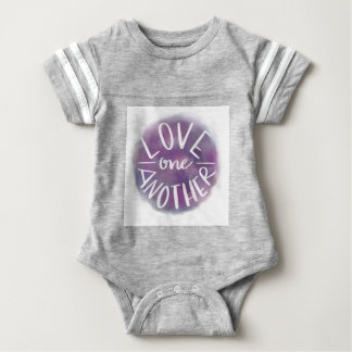 Hand-Lettered Watercolor Bokeh Love One Another Baby Bodysuit