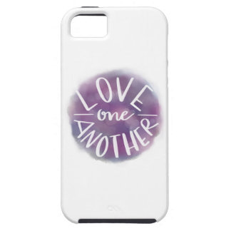 Hand-Lettered Watercolor Bokeh Love One Another iPhone 5 Covers