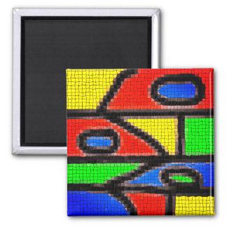 Hand-made mosaic, modern art. magnet