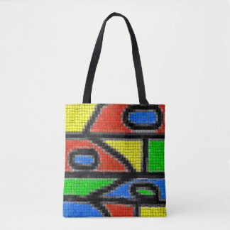 Hand-made mosaic, modern art. tote bag