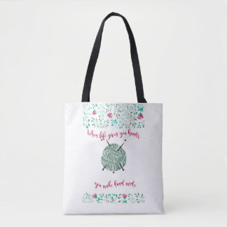 Hand made quote tote bag