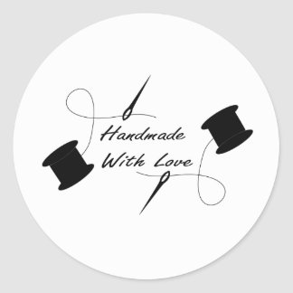 Hand Made with Love Classic Round Sticker