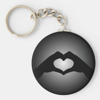 hand making sign Heart Key Ring