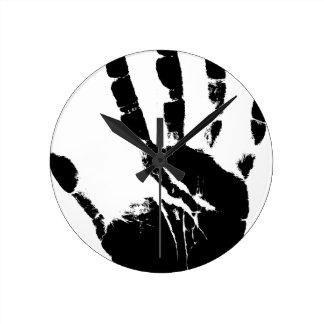 Hand Mark Wall Clock