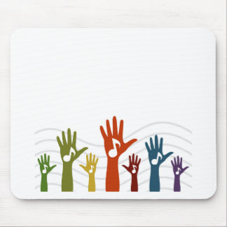 Hand music mouse pad