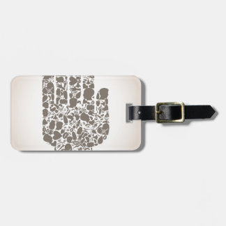 Hand of a part of a body luggage tag