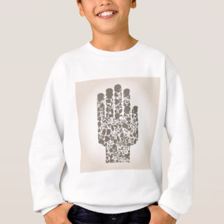 Hand of a part of a body sweatshirt