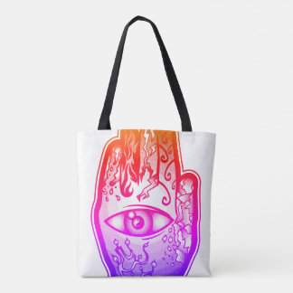 "Hand of Creation ""Pink Fire"" Tote Bag"