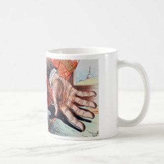 Hand of Democracy Vintage Retro Illustration Coffee Mug