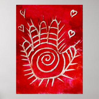 Hand of Fatima - Healing Hands with Love Print