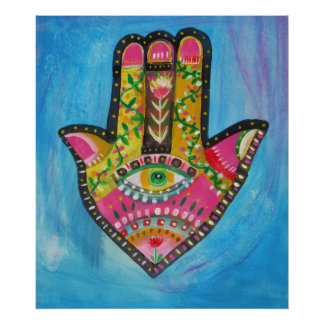 Hand of Fatima Painting POSTER