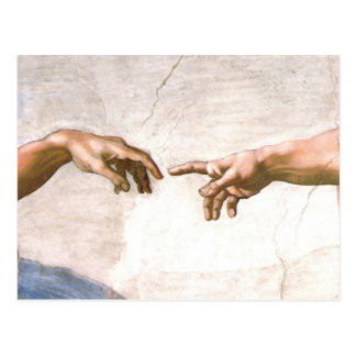 Hand of God by Michelangelo Post Card