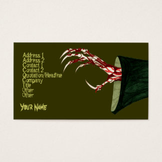 Hand Of Grim Business Card