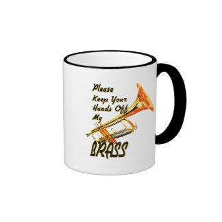Hand off my Brass/ Trumpet Ringer Mug