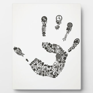 Hand office photo plaque