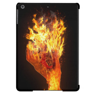 Hand on fire iPad air case